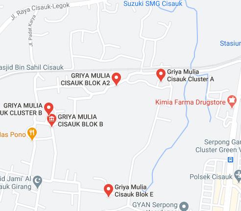 Griya Mulia Cisauk Maps